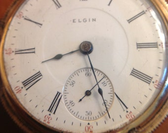 1905  Elgin Pocket Watch 17 Jewels Hunter Case