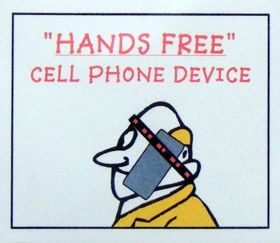 FUN HANDCRAFTED GAG . . . Hands Free Mobile Phone Device