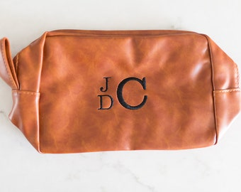 Monogrammed Toiletry Bag - Personalized Shave Kit - Groomsmen Gift- Free Shipping