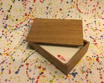 Oak Pallet Box for cards
