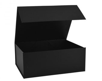 Luxury Magnetic Black Gift Box, Gift Box With Lids, 4 Different Sizes for Hampers, Weddings, Birthdays, Baby Shower, Gift Packaging