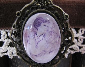 "Necklace cabochon ""The Princess's dream"""
