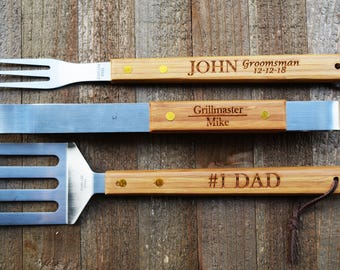 Personalized grilling tools, personalized BBQ Set, BBQ set, personalized grilling. personalized grill set, grill set,