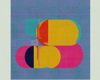 Abstract composition 858 - contemporary art - abstract geometric - 100 x 100 cm - Limited edition