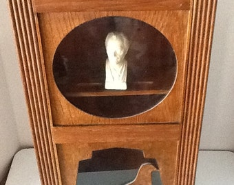 Vintage Solid Wood Modern Clock Case Cabinet