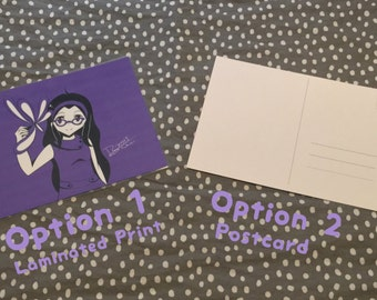 Purple is the Color of Creativity - Postcard