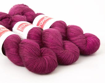 Tanami baby camel and silk hand dyed 4ply yarn -  Electric Junkyard