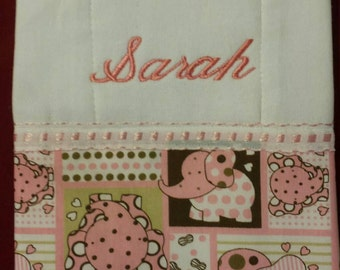 Embroidery Baby Burp Cloth set of 3.
