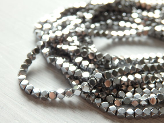 hematite silver necklaces mens necklace large with bead beads on handmade and leather