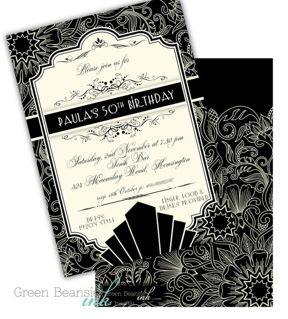 Great roaring 1920s art deco printable or printed party like this item filmwisefo Choice Image
