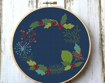 Floral Cross Stitch Pattern PDF Modern cross stitch pattern Instant download X171