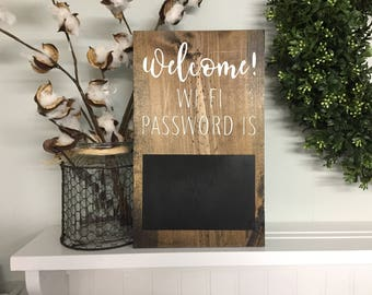 Wifi password Sign, Wi-Fi password, Wifi sign, welcome sign, Welcome wifi sign, Guest Room Sign, Housewarming gifts, Guest