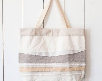 Upcycled One-Of-A-Kind Scrappy Tote Bag 6