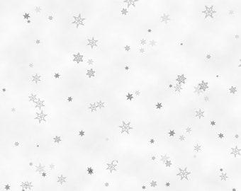 Holiday Wishes -- Grey TIny Snowflakes - 1/2 Yard