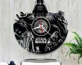 Star Wars Vinyl Clock/Darth Vader Wall Vinyl Clock *V043 Clock Star Wars/Star Wars Lover Gift/Wall Record Clock/Lp Clock/Vinyl Record