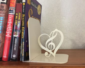 Custom Treble Heart Bookend
