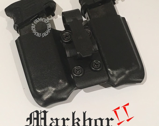 Markhor II IWB Double Arondight Switchblade for 1911 in tactical black (left side carry)