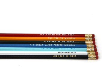 Assorted Michigan Sayings Pencils