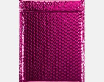 10 Hot Pink Bubble Mailer, Bubble Mailers, Metallic Bubble Mailer, Mailing Envelope, Shipping Envelopes, Padded Bubble, Self Sealing 6x9