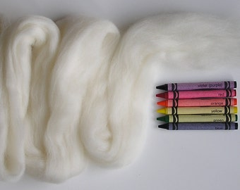 CORRIEDALE WOOL ROVING / Natural White 1 ounce / corriedale roving for needle felting, felted animal hair, animal fur, wet felting, nuno