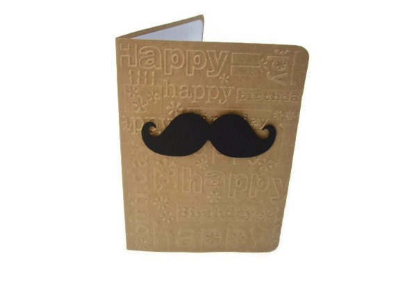 Items Similar To Mustache Card Mustache Birthday Card Happy