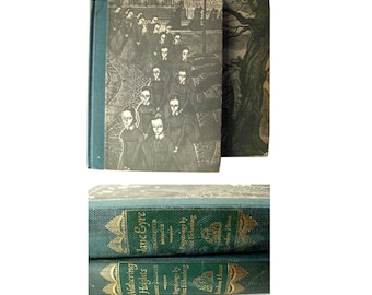 Emily Bronte Set With Wood Engravings Jane Eyre and Wuthering Heights Classic Books Collectible Literature Illustrated Book Fritz Eichenberg