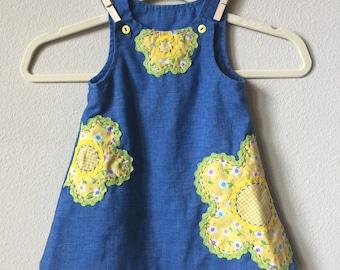 vintage applique dress