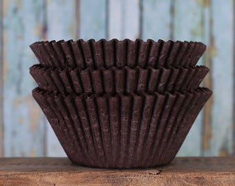 Jumbo Brown Cupcake Liners, Texas Size Muffin Cups, Jumbo Cupcake Liners, Jumbo Muffin Liners, Jumbo Baking Cups, Muffin Cases (50)