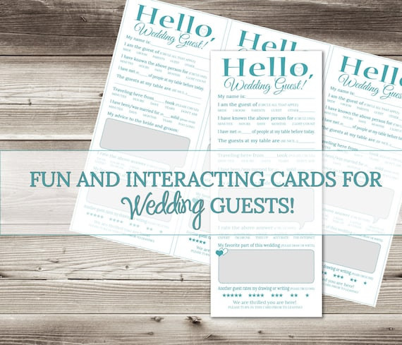 Wedding Games For Guests: Fun Wedding Game For Guests-Get Them Talking And