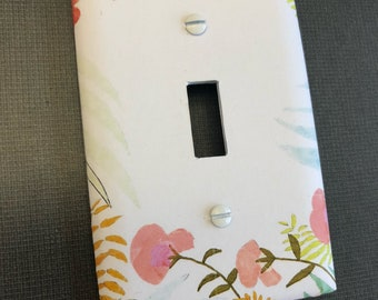 Simple Flowers Lightswitch Plate