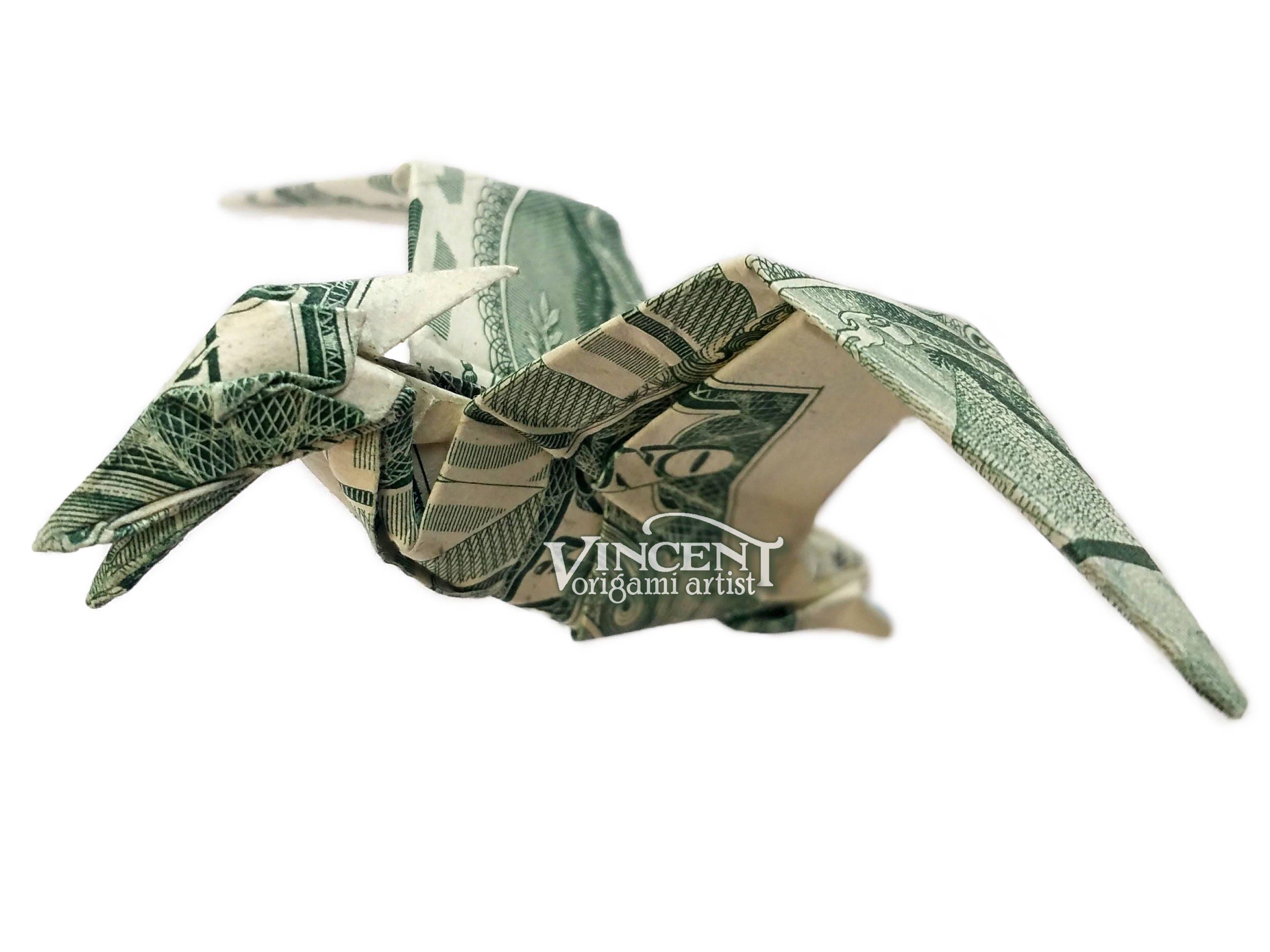 PTERODACTYL Money Origami Art Pterodactylus Pteranodon - photo#12