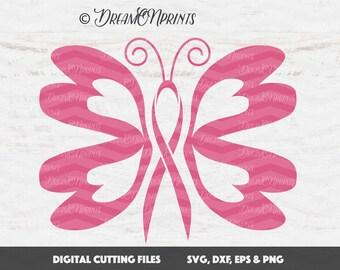 Awareness Butterfly svg, Cancer Ribbon SVG, Cancer Survivor, Awareness Ribbon SVG, SVG Files For Cricut, Svg Files For Silhouette SVDP302
