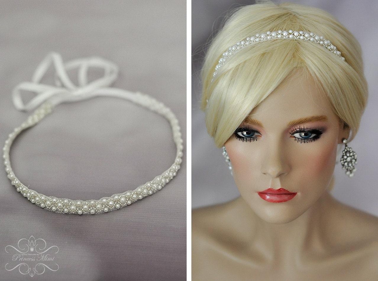 Vintage Boho Braut Headpiece Spitze Haarband Kopfschmuck