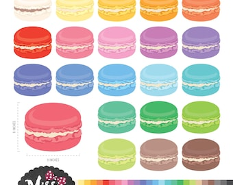 26 Colors Macaroons Clipart - Instant Download