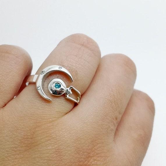 enterprise ring star trek sterling silver ring - Star Trek Wedding Ring