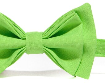 Lime Green Bow Tie for Baby Toddler Boy Men