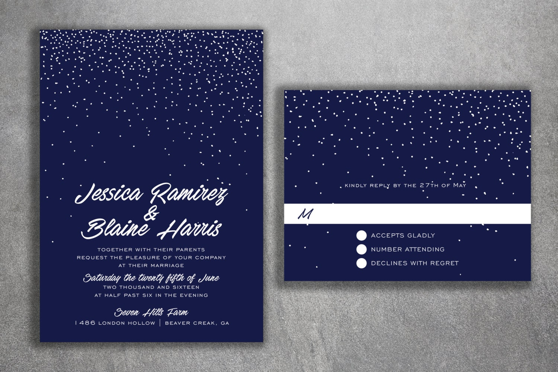 Snowflake Wedding Invitations, Snow Fall Wedding Invitations, Stars ...