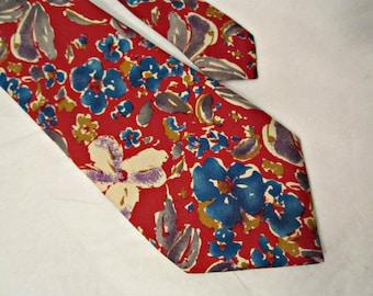Silk Necktie, Men's necktie, Silk necktie, Vintage silk necktie