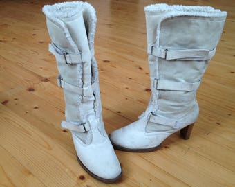 NEW LOOK White Women's Boots - size 40 eur, 9.5 us, 7 uk.