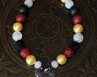 Mickey Mouse inspired Chunky Necklace