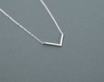 Layering Necklace, Chevron Necklace, Minimalist necklace, V necklace.