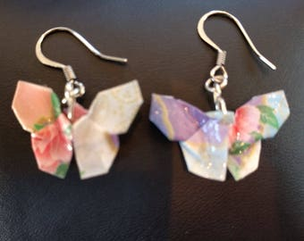 Origami Butterfly Earrings