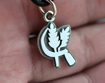 Harvest Necklace pendant Sterling Silver 925 (Flat and small)
