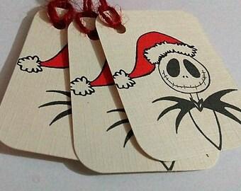 Christmas tags, Jack Skellington Christmas tags, Nightmare before Christmas tags.