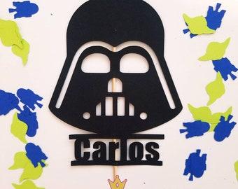 Star Wars party. Geek birthday party. Star Wars birthday. Cake topper. Star Wars cake topper.