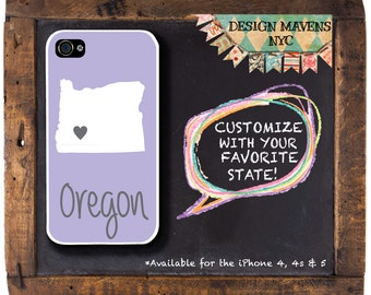 Oregon iPhone Case, Personalized iPhone Case, Fits iPhone 4, 4s, iPhone 5, 5s, 5c, iPhone 6, 6 Plus, Phone Cover, Phone Case, Phone Cover