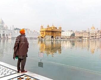 India Photography, Sikh Art, Golden Temple, Amritsar, Holy Lake, Sikh Photo, Sikhism, Sikh Print Art, Fine Art Photography, India Print Art