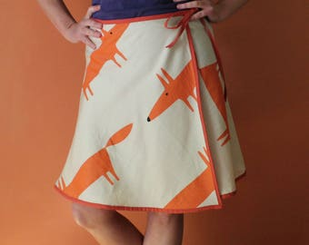 Wrap Skirt (one size fits most small - large) foxes