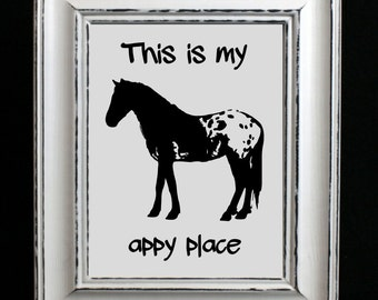 Printable Appaloosa Art Print, western wall decor, horse print, cowgirl gift, Appaloosa lover gift