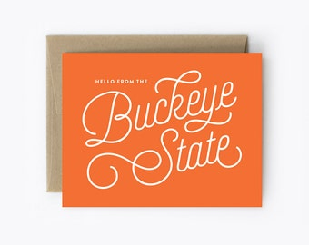 Greeting Card - Hello From The Buckeye State
